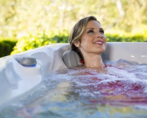 Lady Relaxing in Spa